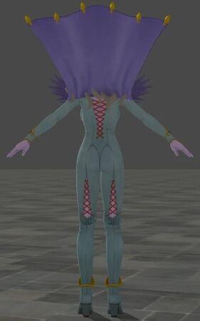 Krystalinda 3D Model for Dragon Quest XI Back View