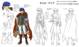 Ike Concept Art for Fire Emblem Path of Radiance