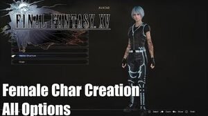 Final Fantasy XV Comrades DLC - Full Female Character Creation Detailed PS4