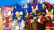 Amy, Sonic, Nazo and Shadow