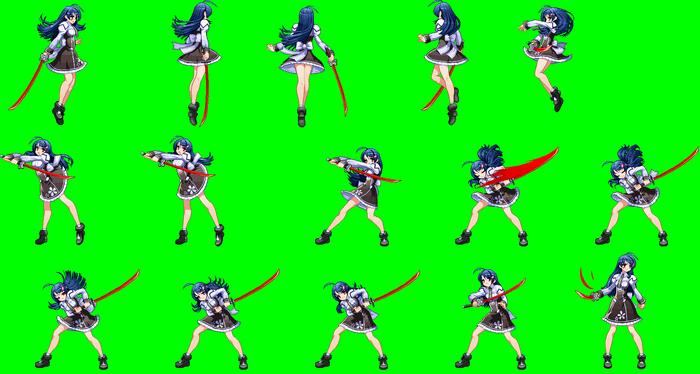 Saki Mitonoya Turning Around Pierce Sprite