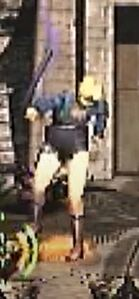 Aya Brea Tonfa Baton Swing Front View for Parasite Eve 2 (3)