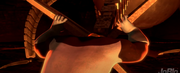 Incredible struggling to push robot claw back from lava.png
