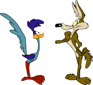An unlikely alliance between the Road Runner and the Coyote.