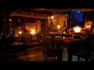 Ambience-ASMR- Victorian Cottage Kitchen at Night (with Fireplace, Clock, & Snowfall), 8 Hours