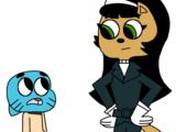 Gumball Watterson Meets Kitty Katswell