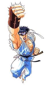 Ryu Doing a Shoryuken