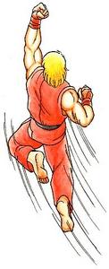 Ken Doing a Shoryuken