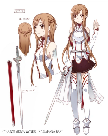Asuna Yuuki SAO Costume Concept Art for Sword Art Online