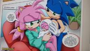 Amy and Sonic with their baby daughter