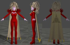 Krystalinda Red Body Suit for Dragon Quest XI