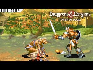 Dungeons and Dragons- Tower of Doom - Arcade - Full Game -4K, 60 FPS-