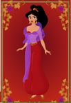 Jasmine red outfit by doodles198-d5viqgb