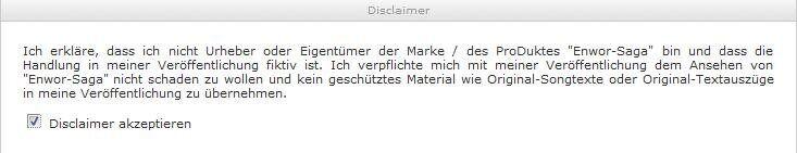 Ein Disclaimer der Seite myfanfiction.de