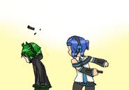 Kero and Hito triple baka