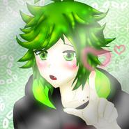 Akiyama Kero Love avatar (with glass)