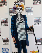 Eden Sher Wearing a Day of the Dead Sugar Skull Makeup