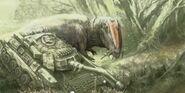 Giganotosaurus Vs Tank Jurassic World Dominion