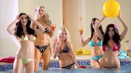 Five Girls are at the pool party