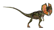 Dilophosaurus render