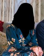 Mandy moore wearing a black headmask