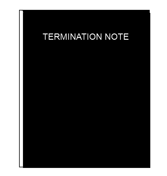 Termination Note