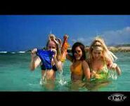 The girls taking off their bikini bottoms under water
