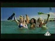 The girls wave the bikini bottoms in the air
