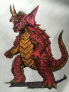 Baragon by bozzerkazooers d9go3fw pre by kaijualpha1point0 dd9h154-fullview