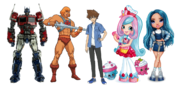Toy companies respective mascots by appleberries22 derrhls-pre