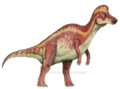 Crimson corythosaurus