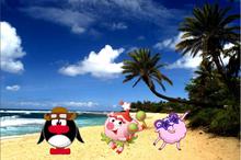 Нюша, Бараш и Пин на пляже.png