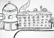 Pałac Universy szkic