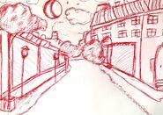 Uniwersa uliczka szkic