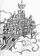 Pałac na Amoris szkiceł od Rochi
