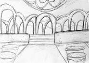 Triangulum szkice - wewnątrz pałacu - 1
