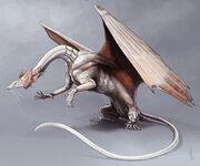 Vyobrazení dračice Lung Tien Lien z knižní série Temeraire