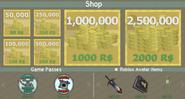 The Robux Shop GUI
