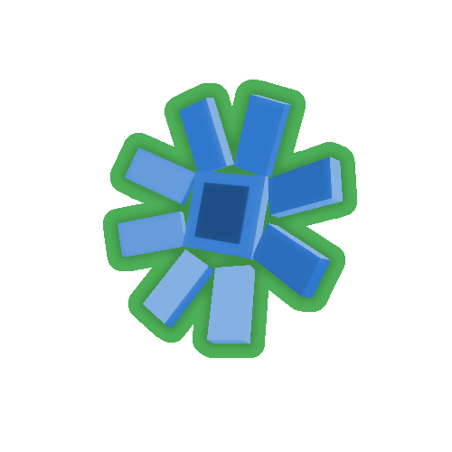 Blue Sunflower Top