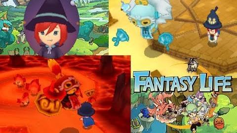 Fantasy Life - Gale Wraith + Blaze Wraith Boss Fight - Magician SOLO