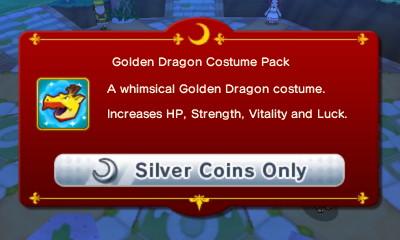 Golden Dragon Costume Pack