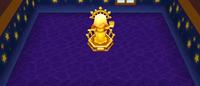 Golden Goddess Statue in Room