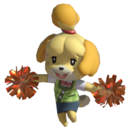 0.7.Isabelle walking with Pom Poms