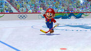 Mario Hockey scene