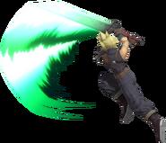 0.13.Cloud Swinging his Sword Upwards
