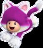 SM3DW Cat Purple Toad