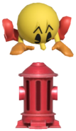 0.7.Pac-Man putting down a Fire Hydrant