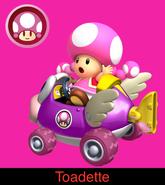 Toadette in Mario Kart 9