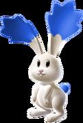 Blue Chasing Star Bunny
