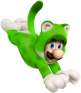 Cat Luigi - Super Mario 3D World